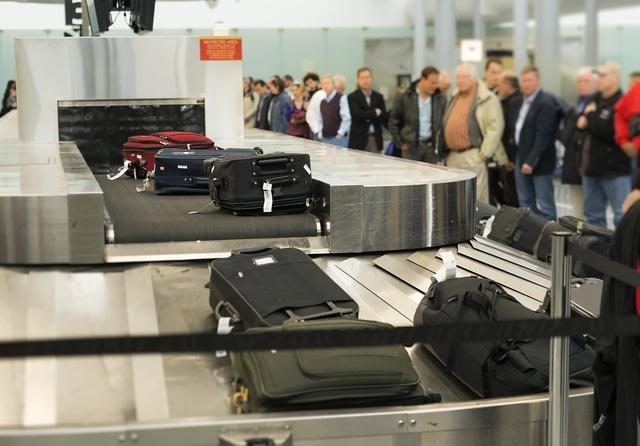 PHILADELPHIA, PENNSYLVANIA, UNITED STATES - 2013/11/10: Baggage claim conveyor at Philadelphia International Airport. (Photo by John Greim/LightRocket via Getty Images)